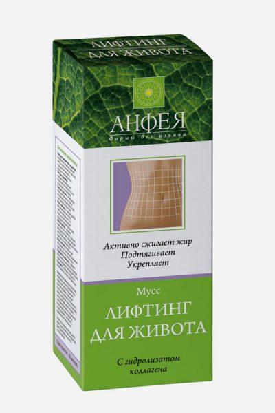 крем для подтяжки кожи живота - Мусс лифтинг для живота «Анфея»