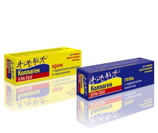 Противоспалительный крем (гель) «Коллаген Ультра» для лечения ушибов